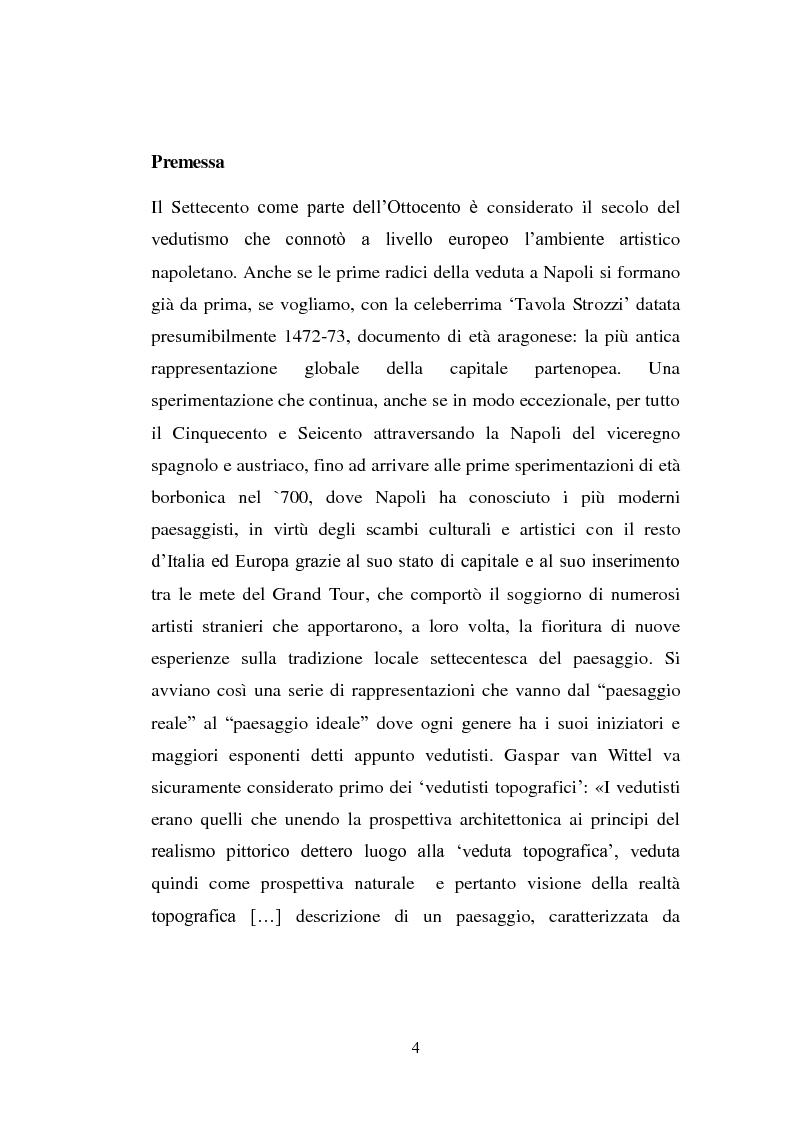Anteprima della tesi: Alla ricerca del vero: viaggio nella terra del Vesuvio. Il paesaggio del reale tra Sette e Ottocento , Pagina 2