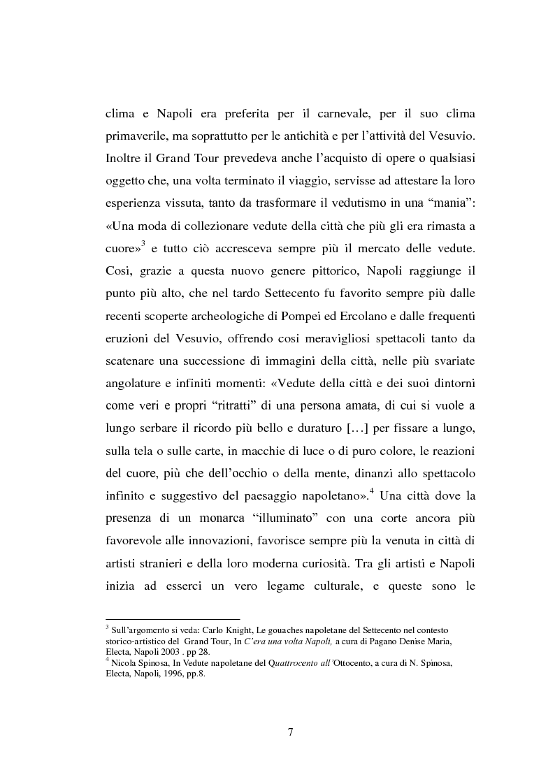 Anteprima della tesi: Alla ricerca del vero: viaggio nella terra del Vesuvio. Il paesaggio del reale tra Sette e Ottocento , Pagina 5