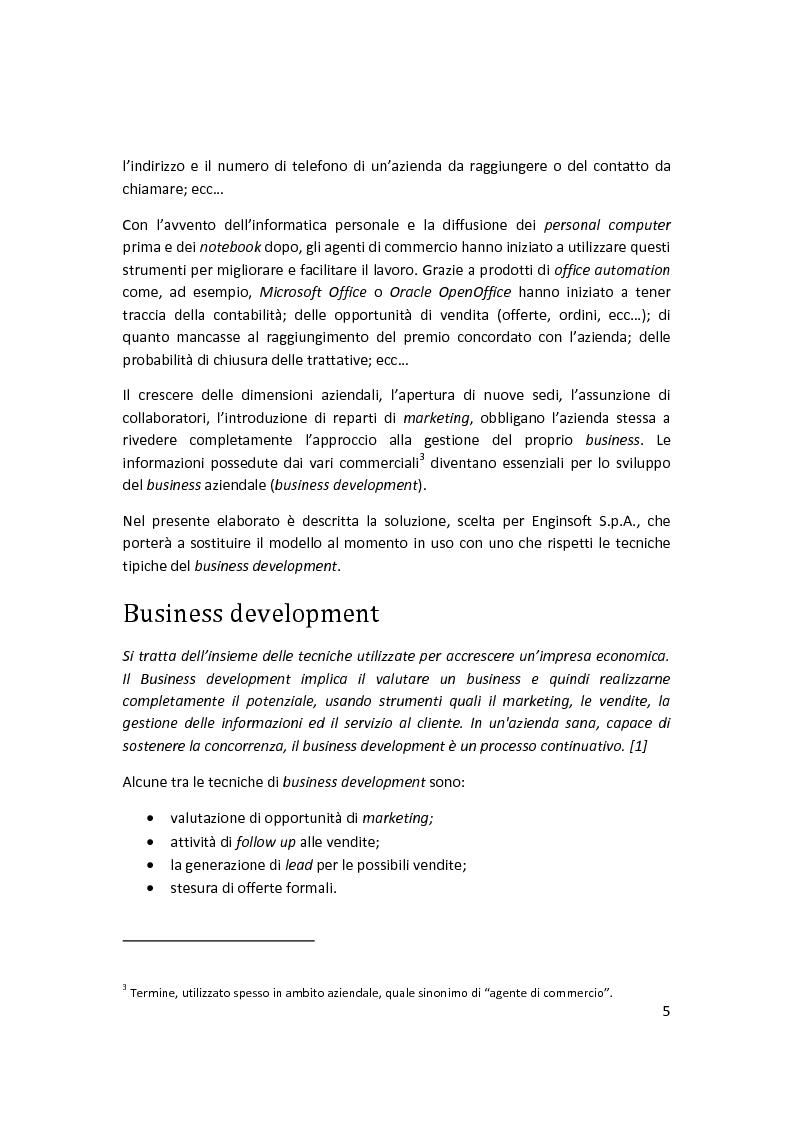 Anteprima della tesi: Sviluppo di un sistema di ''business development'' in un contesto aziendale, Pagina 3