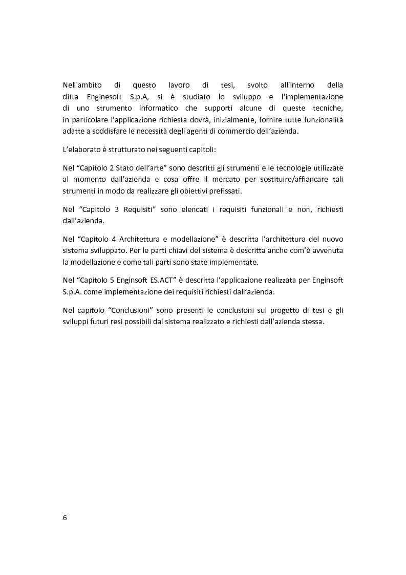 Anteprima della tesi: Sviluppo di un sistema di ''business development'' in un contesto aziendale, Pagina 4
