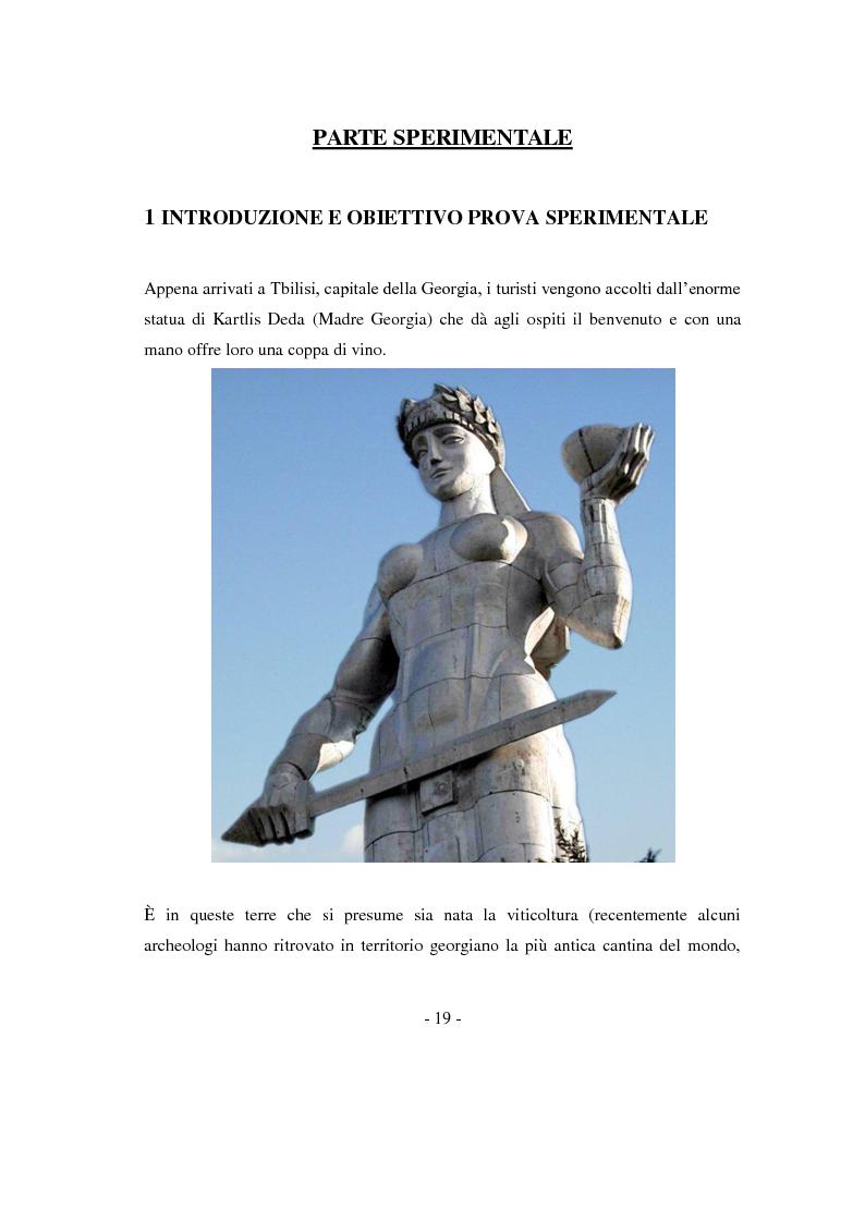 Anteprima della tesi: Risposte adattative di alcuni vitigni georgiani al pedo clima di Bolgheri (Toscana), Pagina 2
