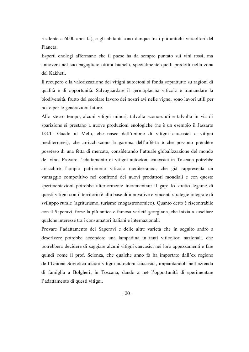 Anteprima della tesi: Risposte adattative di alcuni vitigni georgiani al pedo clima di Bolgheri (Toscana), Pagina 3