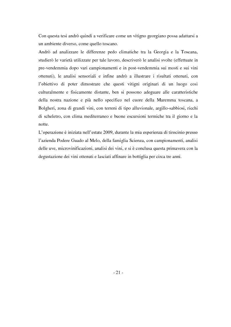 Anteprima della tesi: Risposte adattative di alcuni vitigni georgiani al pedo clima di Bolgheri (Toscana), Pagina 4
