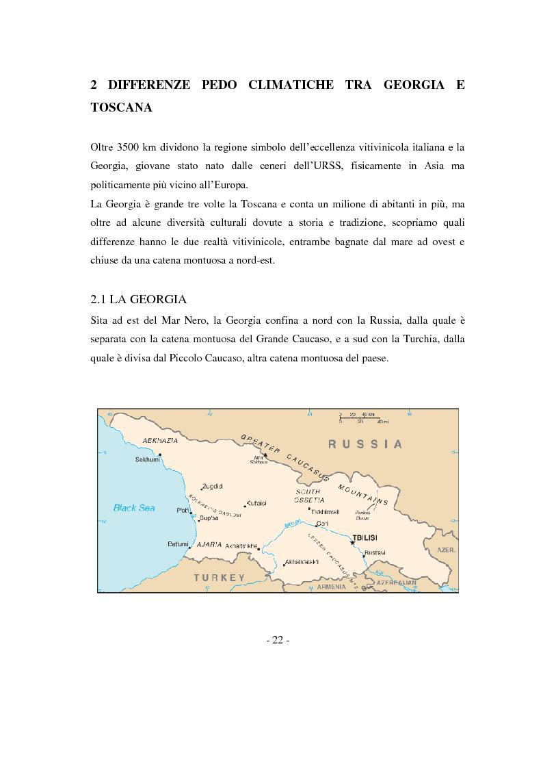 Anteprima della tesi: Risposte adattative di alcuni vitigni georgiani al pedo clima di Bolgheri (Toscana), Pagina 5