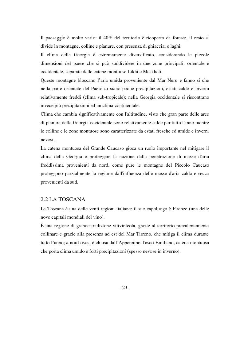 Anteprima della tesi: Risposte adattative di alcuni vitigni georgiani al pedo clima di Bolgheri (Toscana), Pagina 6