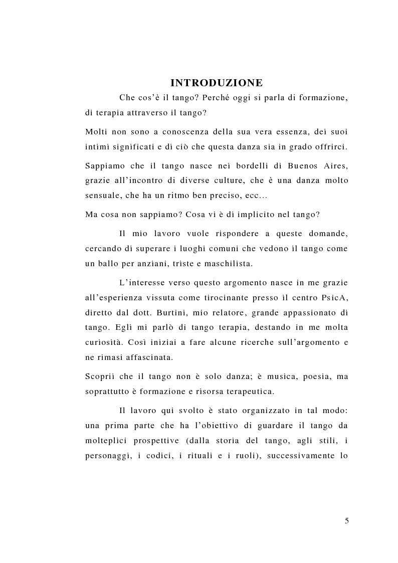 Anteprima della tesi: Tango: rituali, ruoli e codici per una formazione dal profondo. Il tango fatto uomo. Un uomo fatto tango. Intervista a un grande maestro: Oscar Benavidez, Pagina 2