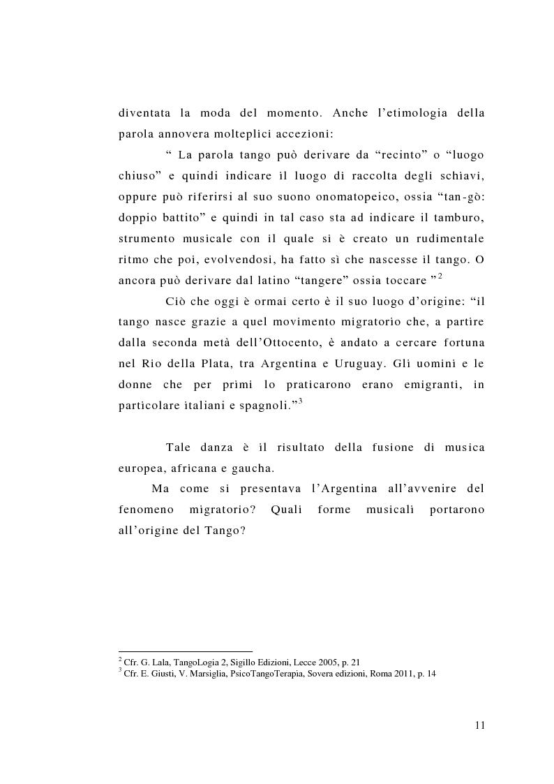 Anteprima della tesi: Tango: rituali, ruoli e codici per una formazione dal profondo. Il tango fatto uomo. Un uomo fatto tango. Intervista a un grande maestro: Oscar Benavidez, Pagina 8