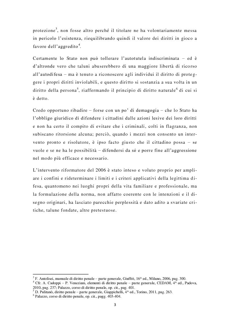 Anteprima della tesi: La nuova legittima difesa, Pagina 4