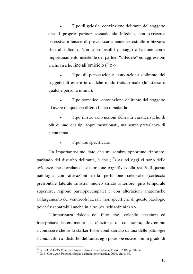 Anteprima della tesi: Aspetti problematici della disciplina dello stalking, Pagina 11