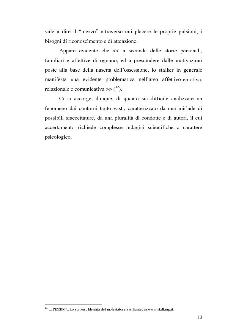 Anteprima della tesi: Aspetti problematici della disciplina dello stalking, Pagina 8
