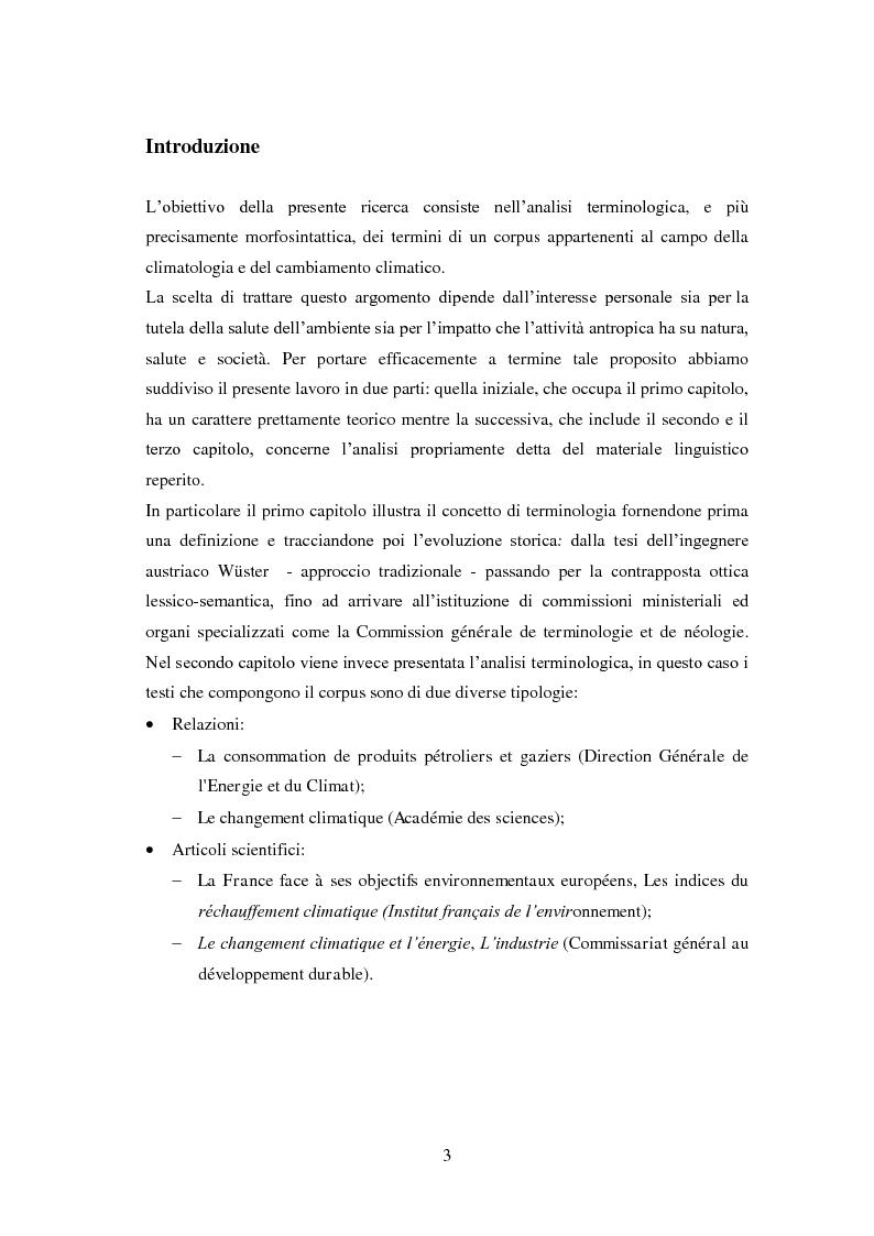 Anteprima della tesi: I termini francesi del cambiamento climatico, Pagina 2