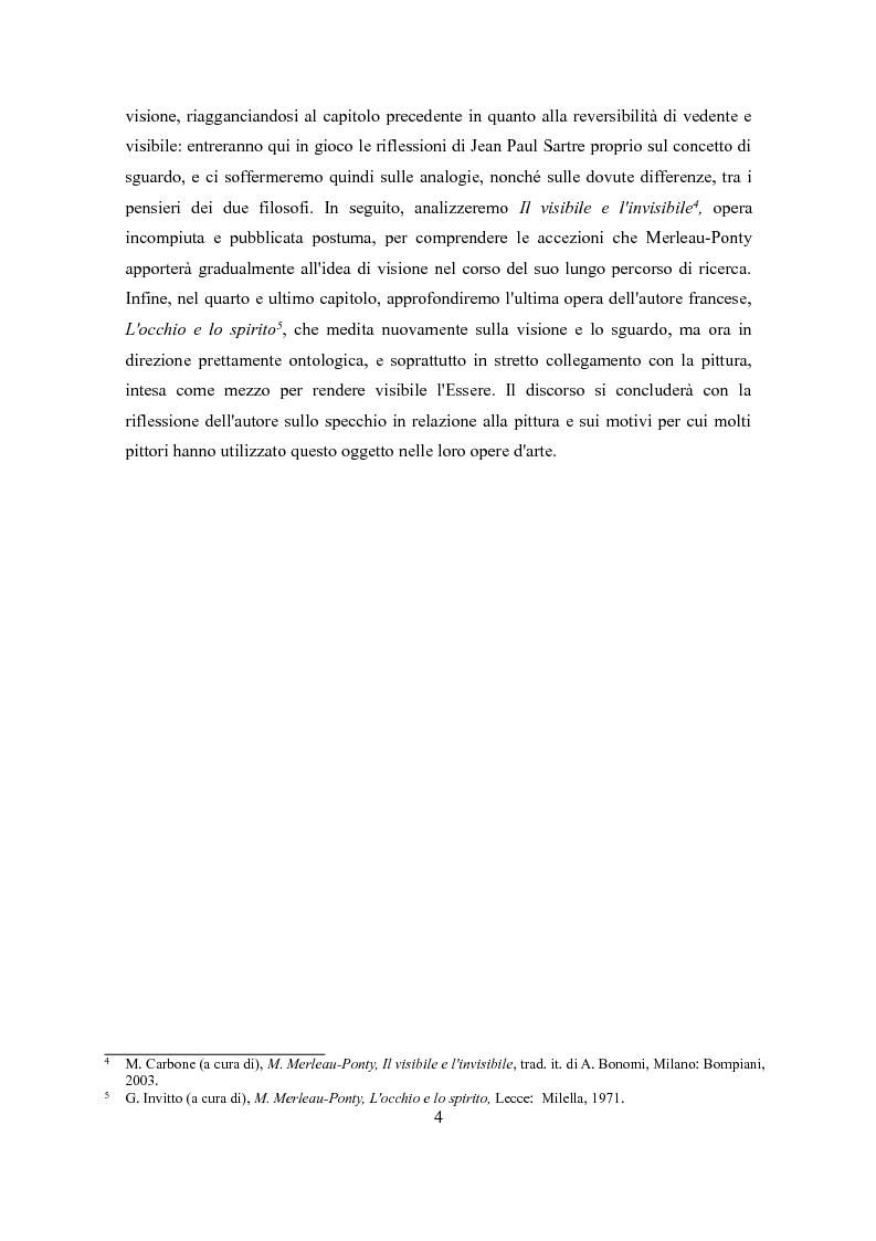 Anteprima della tesi: Sguardo e specchio: visione e identità in Merleau-Ponty, Pagina 4