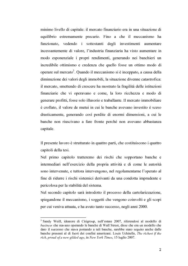 Anteprima della tesi: Fallimento Lehman Brothers: Problemi di regolamentazione e gestione bancaria, Pagina 3