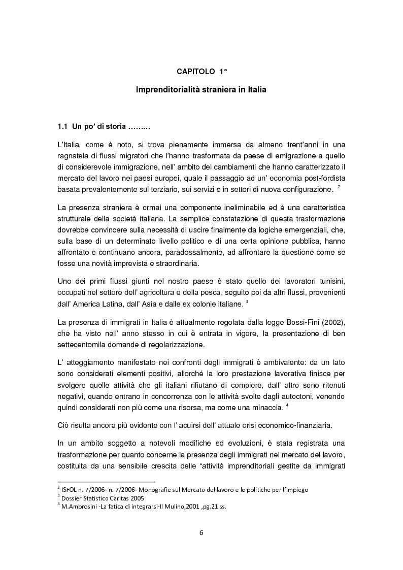 Anteprima della tesi: Imprenditorialità multiculturale e distrettualizzazione: il caso di Prato, Pagina 4