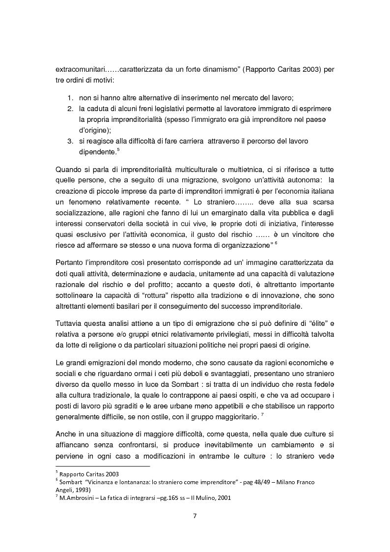 Anteprima della tesi: Imprenditorialità multiculturale e distrettualizzazione: il caso di Prato, Pagina 5