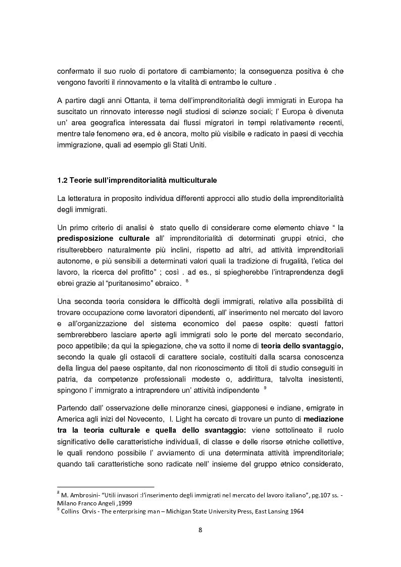 Anteprima della tesi: Imprenditorialità multiculturale e distrettualizzazione: il caso di Prato, Pagina 6