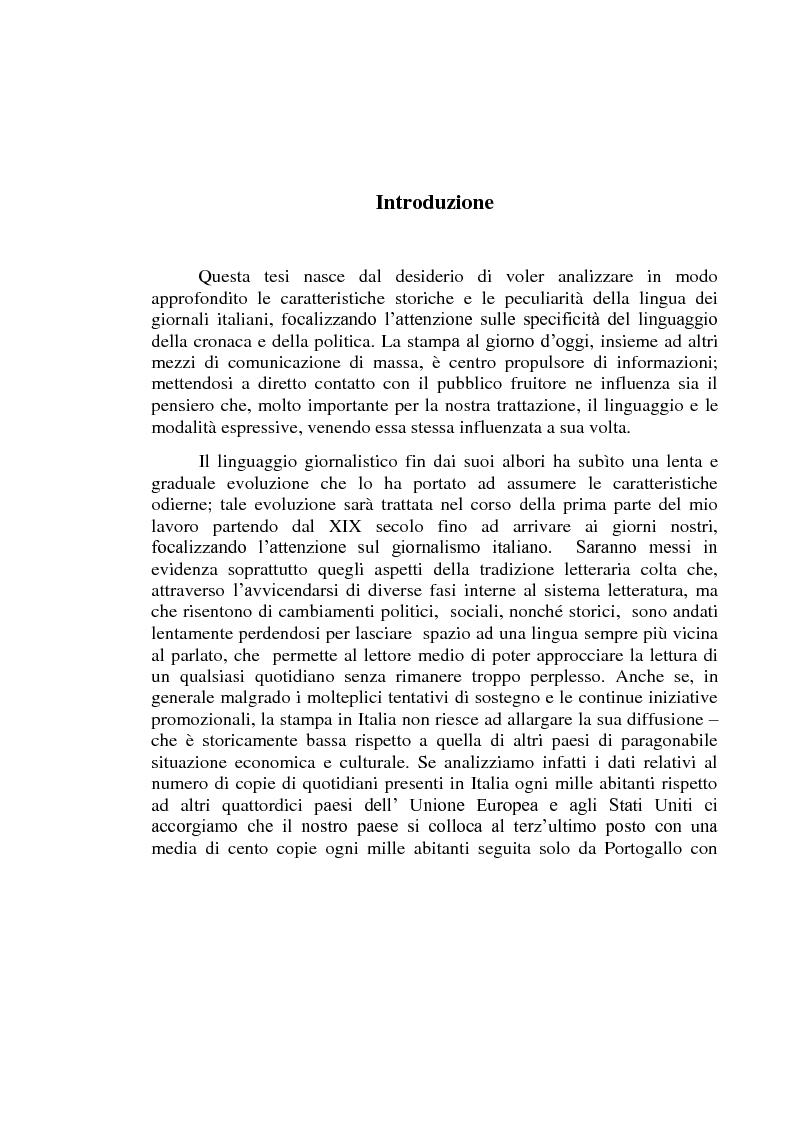 Anteprima della tesi: La lingua dei giornali italiani (1800-2000): profili letterario, storico e retorico., Pagina 2