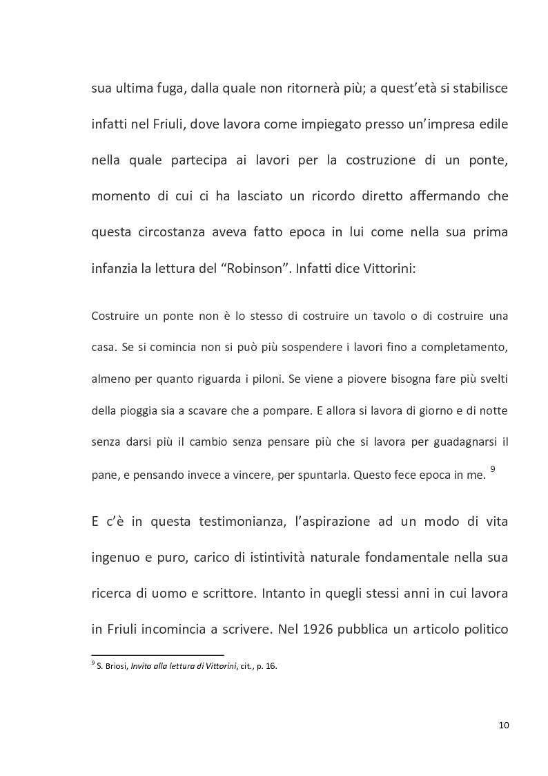 """Anteprima della tesi: """"Conversazione in Sicilia"""" di Elio Vittorini, Pagina 11"""