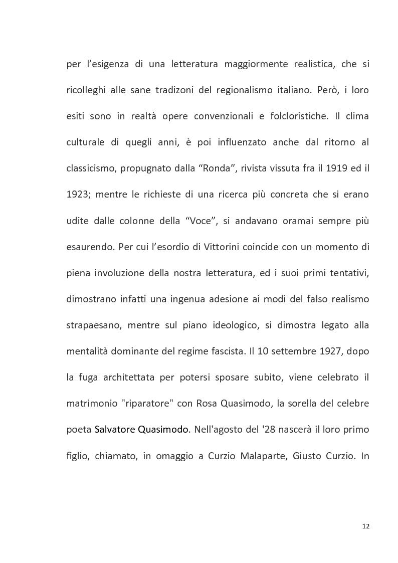 """Anteprima della tesi: """"Conversazione in Sicilia"""" di Elio Vittorini, Pagina 13"""