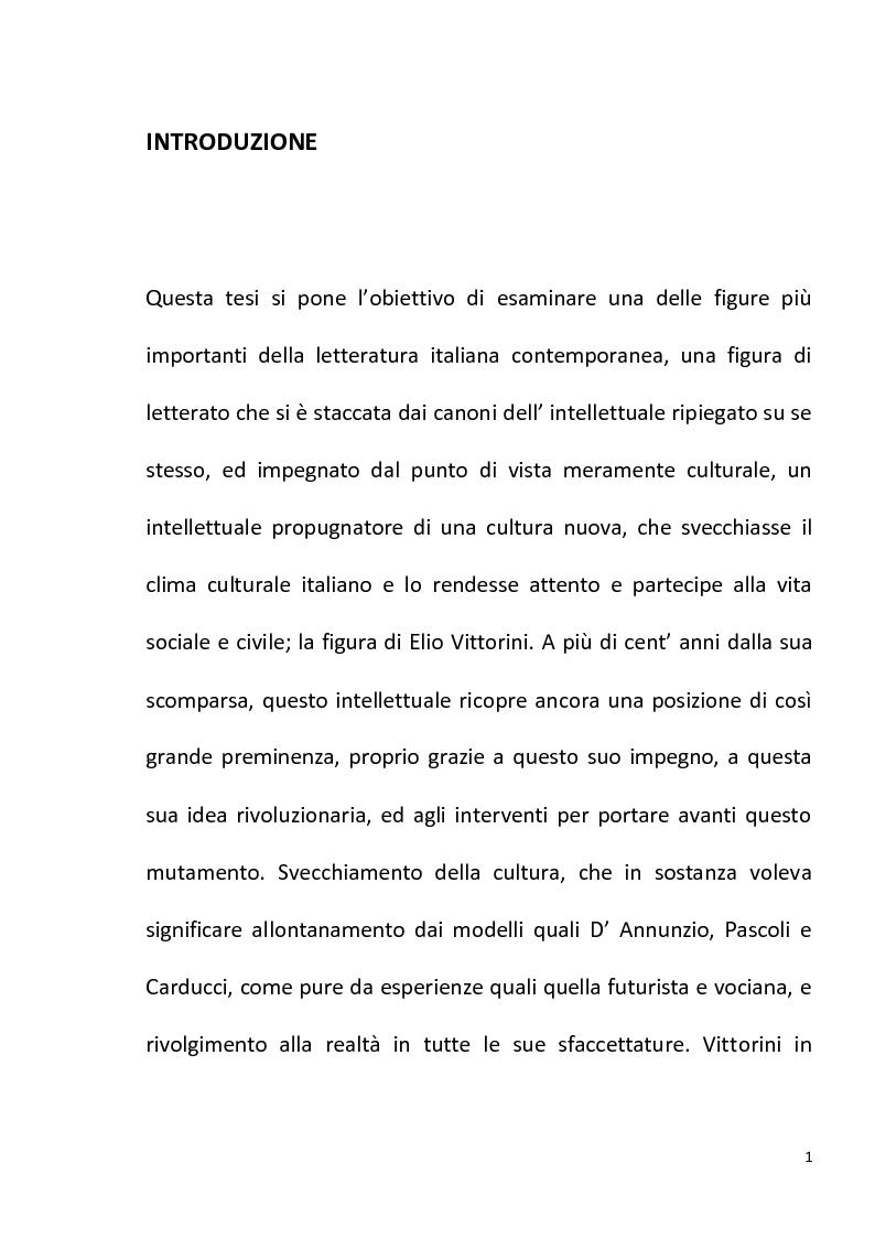 """Anteprima della tesi: """"Conversazione in Sicilia"""" di Elio Vittorini, Pagina 2"""