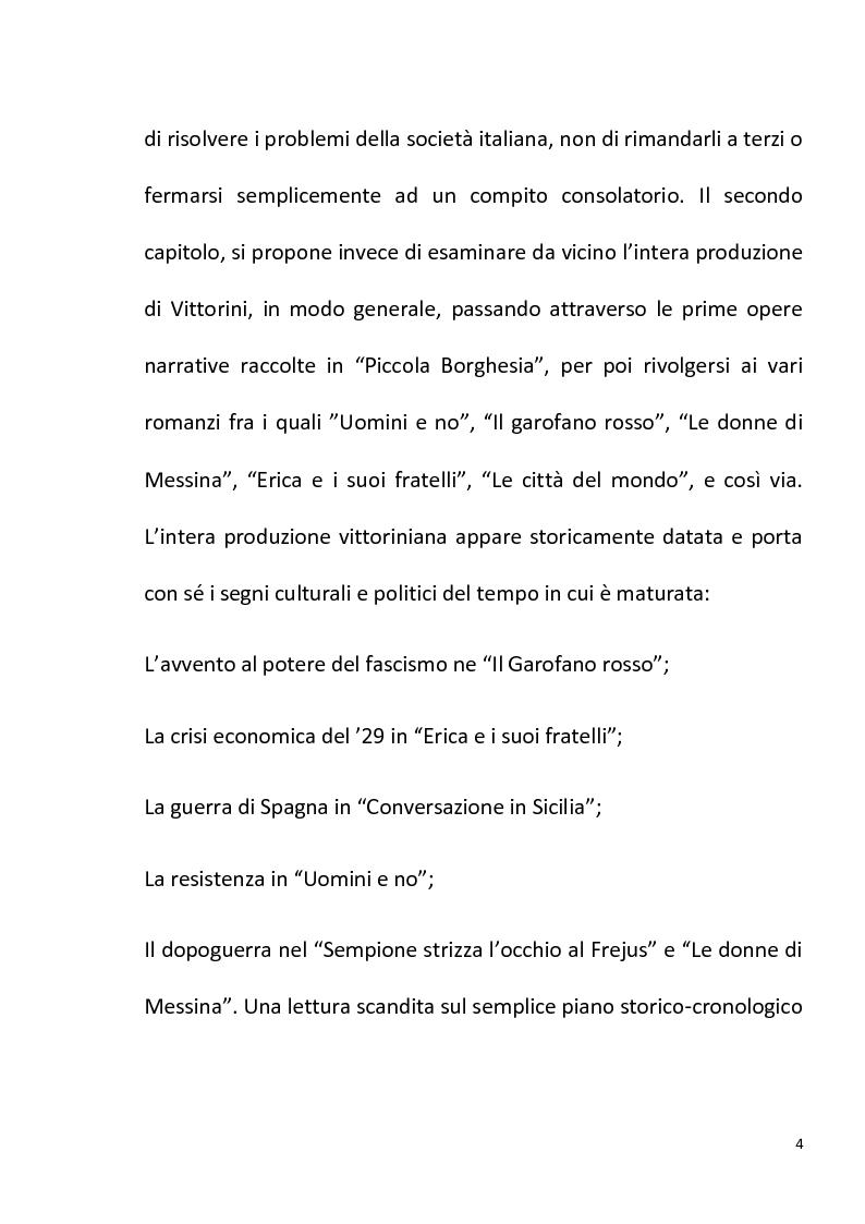 """Anteprima della tesi: """"Conversazione in Sicilia"""" di Elio Vittorini, Pagina 5"""