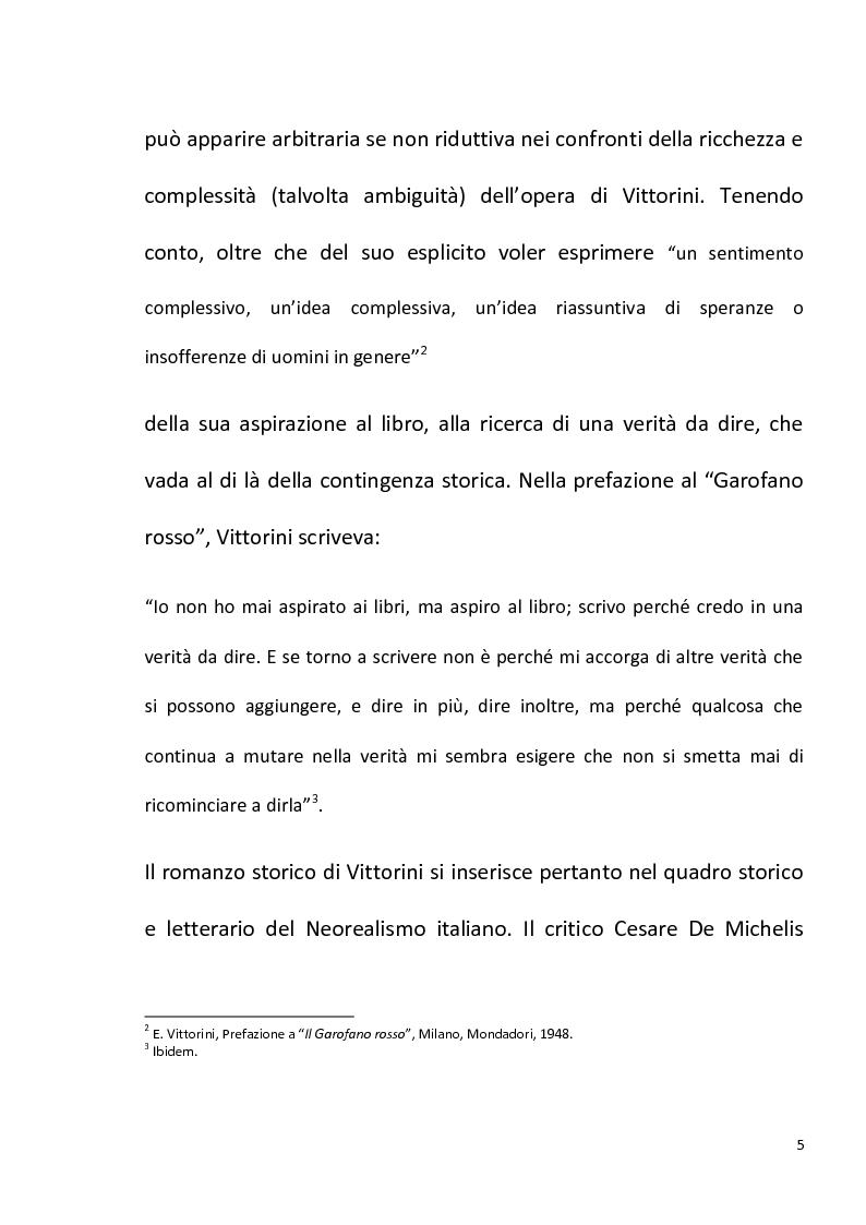 """Anteprima della tesi: """"Conversazione in Sicilia"""" di Elio Vittorini, Pagina 6"""