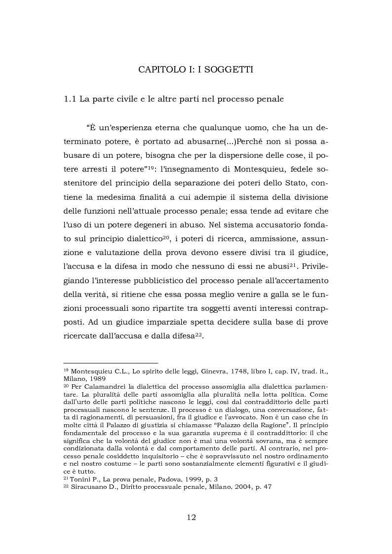 Anteprima della tesi: La testimonianza della parte civile, Pagina 10