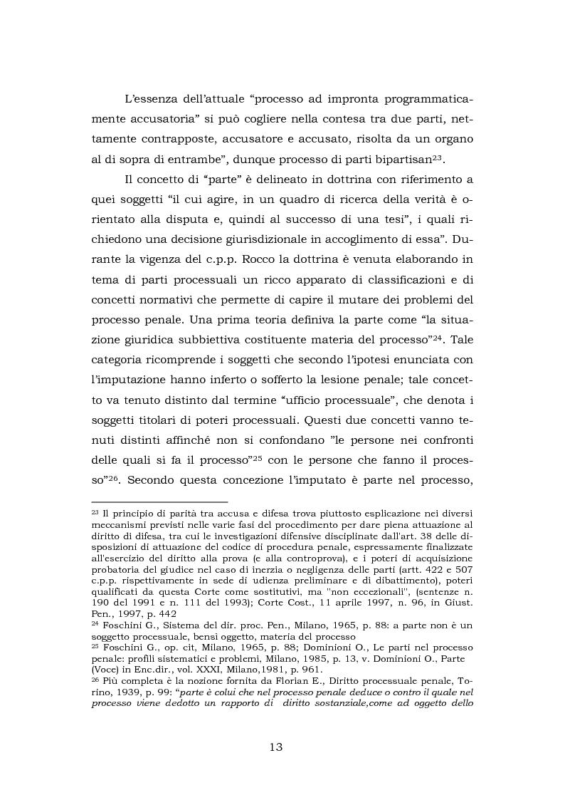 Anteprima della tesi: La testimonianza della parte civile, Pagina 11