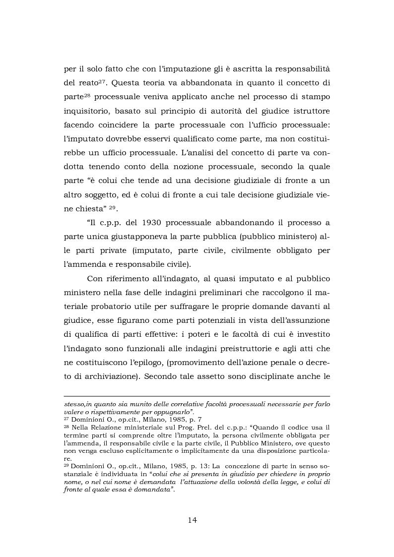 Anteprima della tesi: La testimonianza della parte civile, Pagina 12