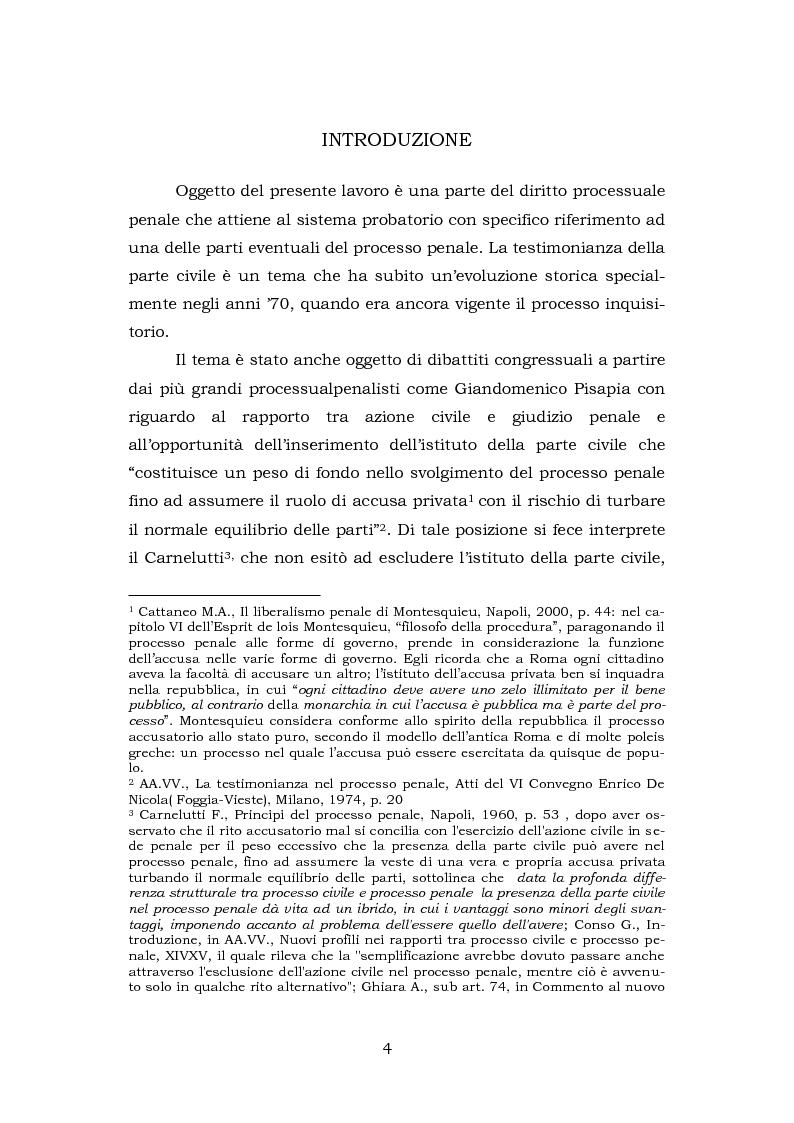 Anteprima della tesi: La testimonianza della parte civile, Pagina 2