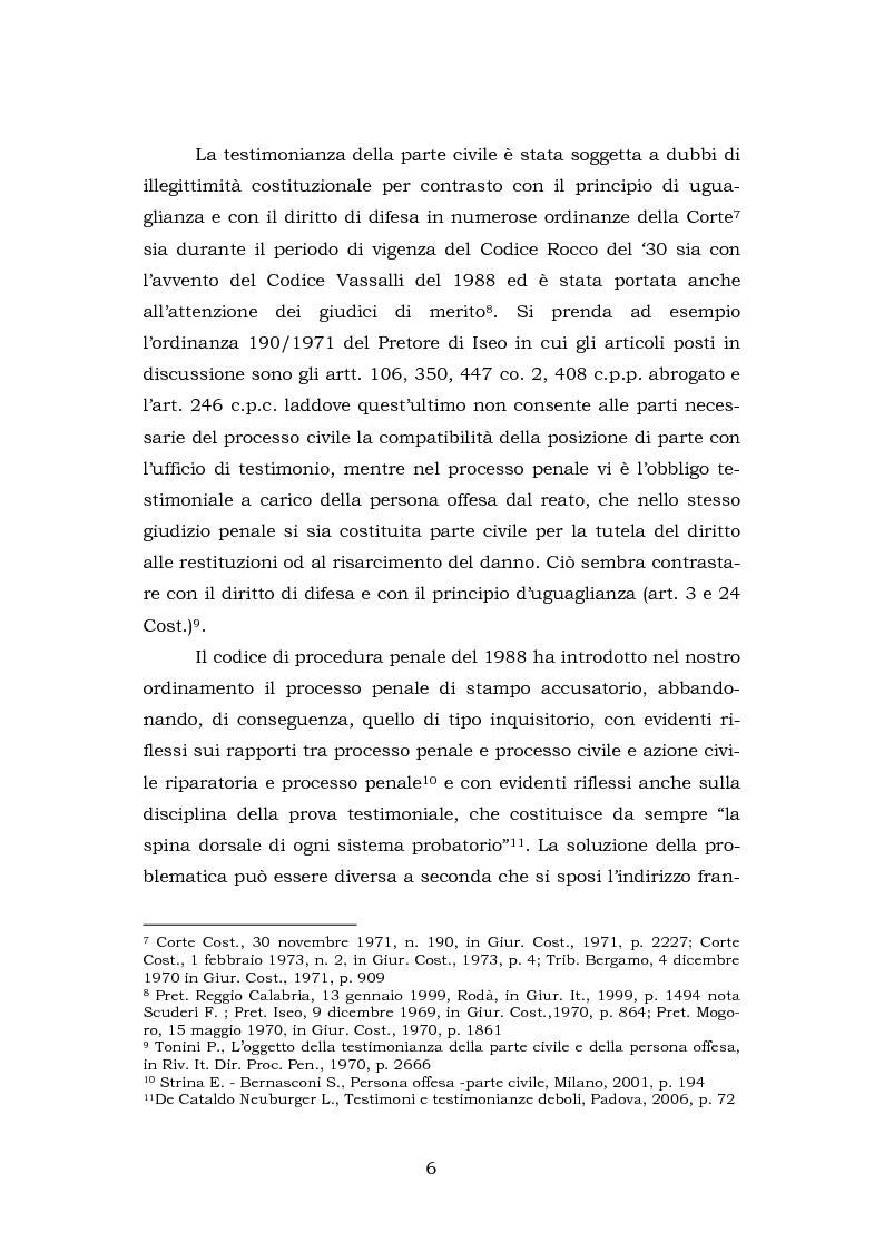 Anteprima della tesi: La testimonianza della parte civile, Pagina 4