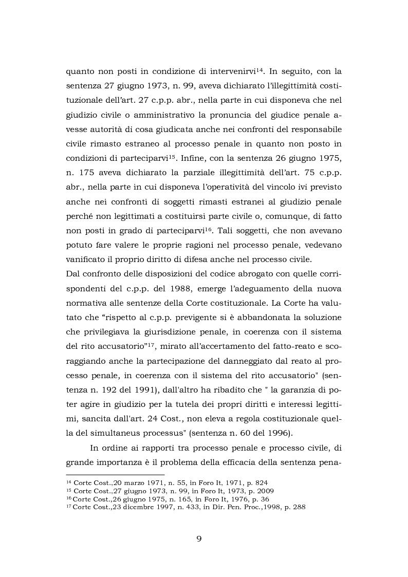 Anteprima della tesi: La testimonianza della parte civile, Pagina 7