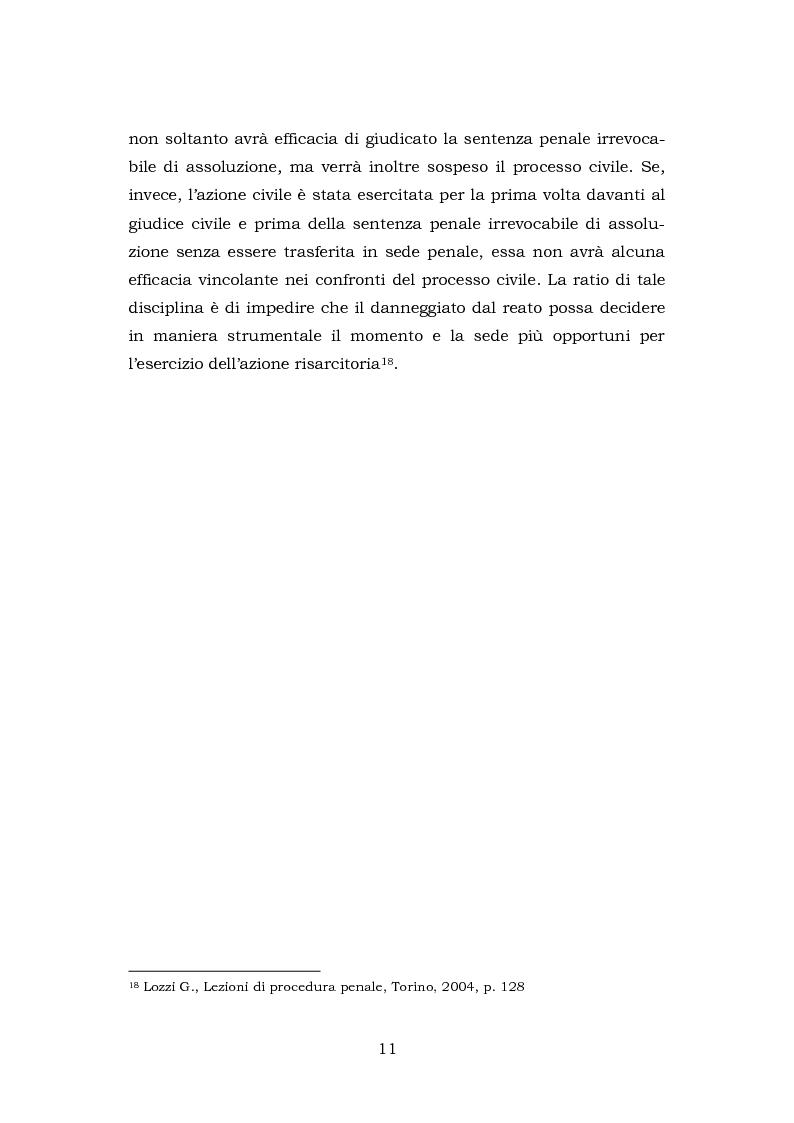Anteprima della tesi: La testimonianza della parte civile, Pagina 9