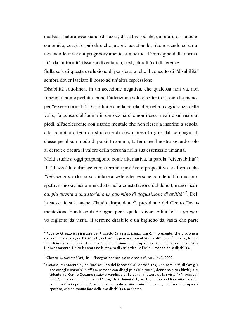 Anteprima della tesi: Persona diversabile e progetto di vita, Pagina 3