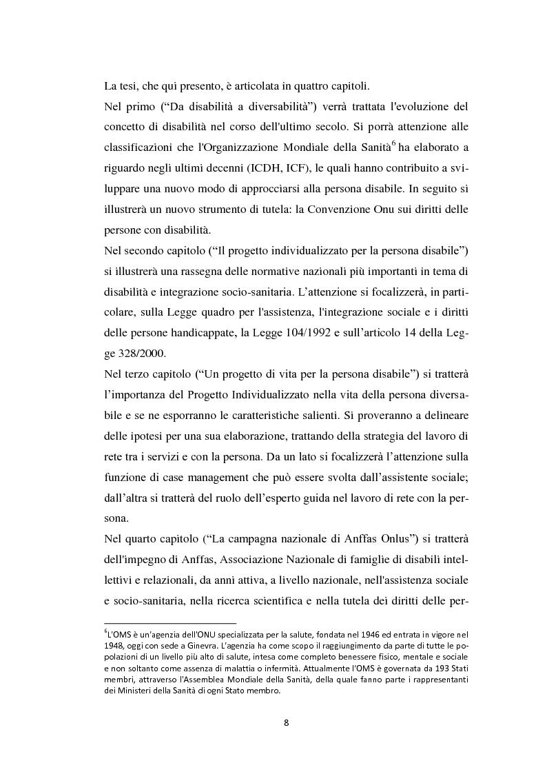 Anteprima della tesi: Persona diversabile e progetto di vita, Pagina 5