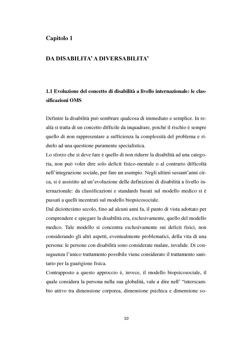 Anteprima della tesi: Persona diversabile e progetto di vita, Pagina 7