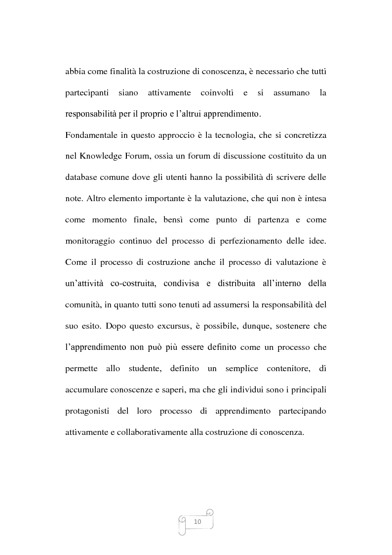 Anteprima della tesi: Dalla trasmissione di informazioni alla costruzione di conoscenza: un review della letteratura, Pagina 10
