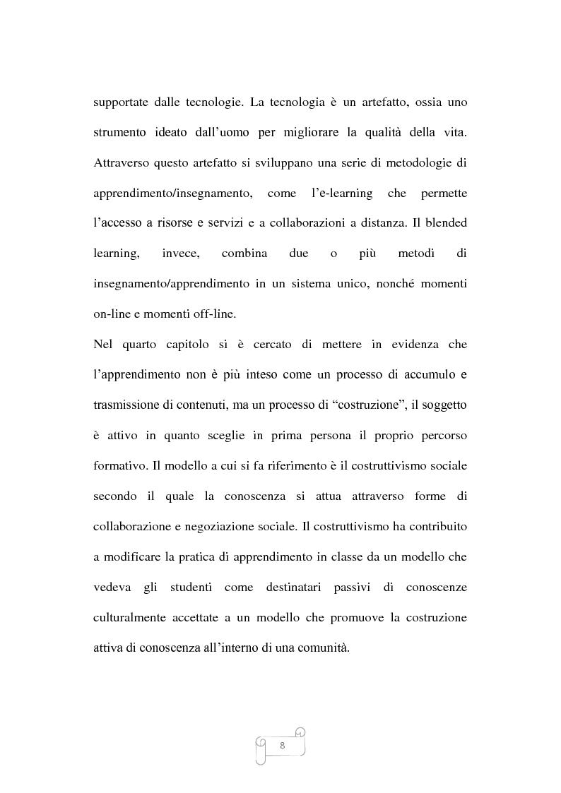 Anteprima della tesi: Dalla trasmissione di informazioni alla costruzione di conoscenza: un review della letteratura, Pagina 8
