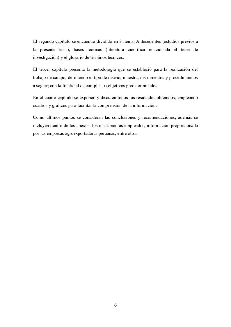 Anteprima della tesi: Investigación de mercado para la exportación de palta Hass al mercado de Italia (Ricerca di mercato per l'esportazione dell'avocado Hass al mercato di Italia), Pagina 3