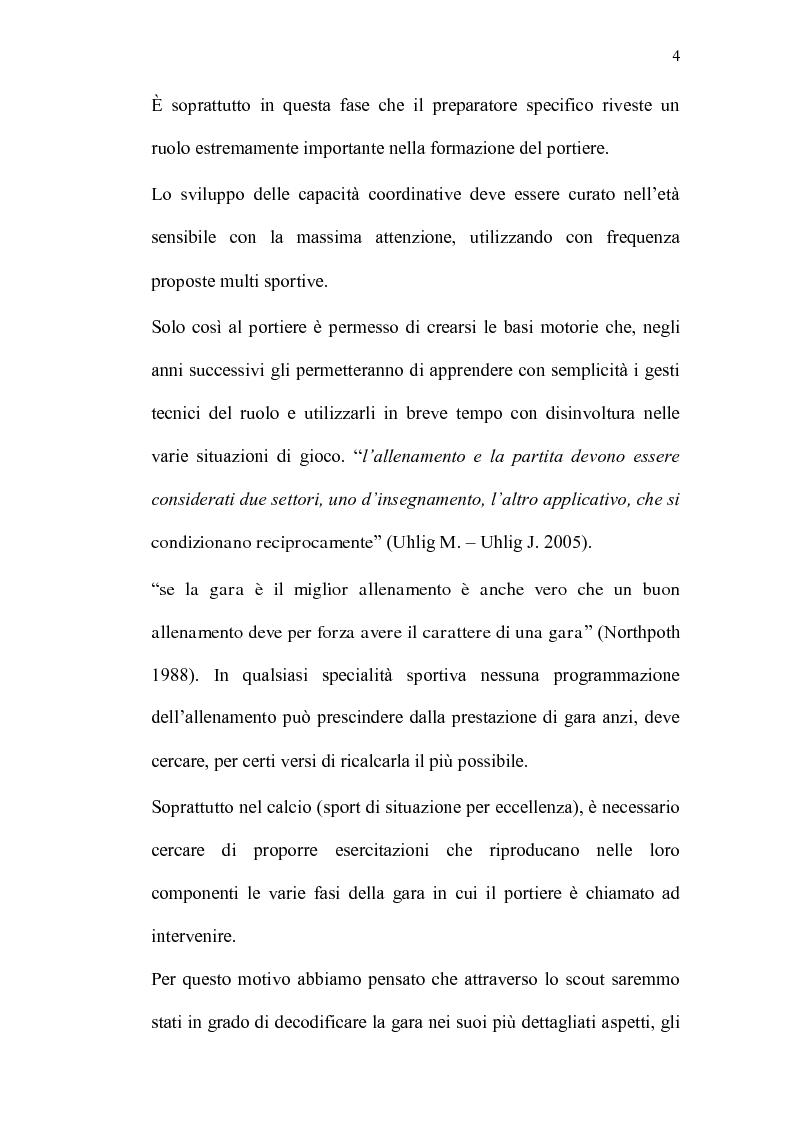 Anteprima della tesi: La Prestazione tecnico-tattica del Portiere nella Scuola Calcio, Pagina 3