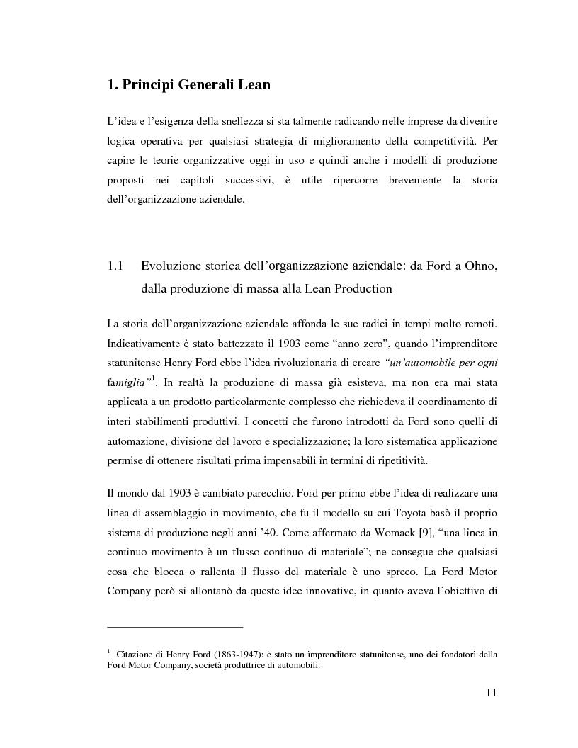 Anteprima della tesi: Lean Manufacturing nel settore manifatturiero: il caso Pramac, Pagina 4