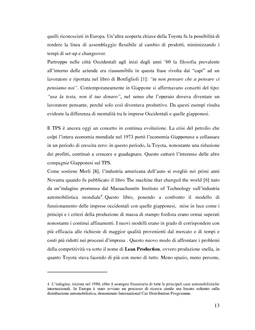 Anteprima della tesi: Lean Manufacturing nel settore manifatturiero: il caso Pramac, Pagina 6