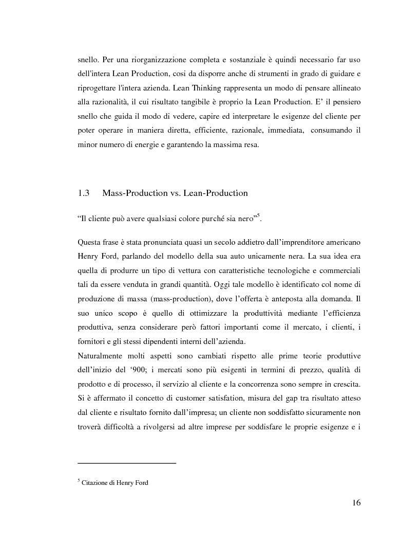 Anteprima della tesi: Lean Manufacturing nel settore manifatturiero: il caso Pramac, Pagina 9