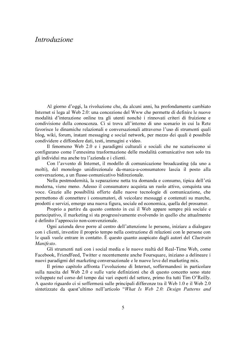 Anteprima della tesi: Marketing Conversazionale e Web 2.0: un dialogo tra l'azienda e il mercato, Pagina 2