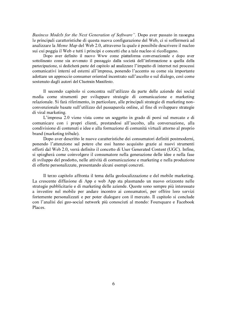 Anteprima della tesi: Marketing Conversazionale e Web 2.0: un dialogo tra l'azienda e il mercato, Pagina 3