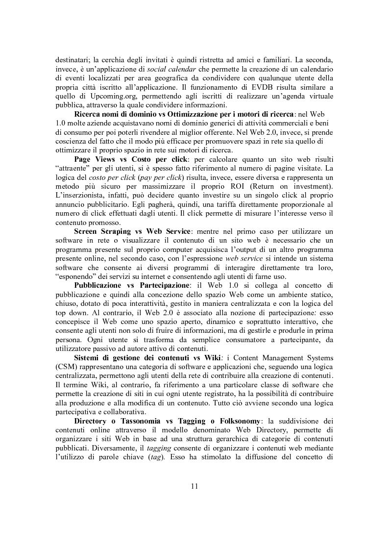 Anteprima della tesi: Marketing Conversazionale e Web 2.0: un dialogo tra l'azienda e il mercato, Pagina 8