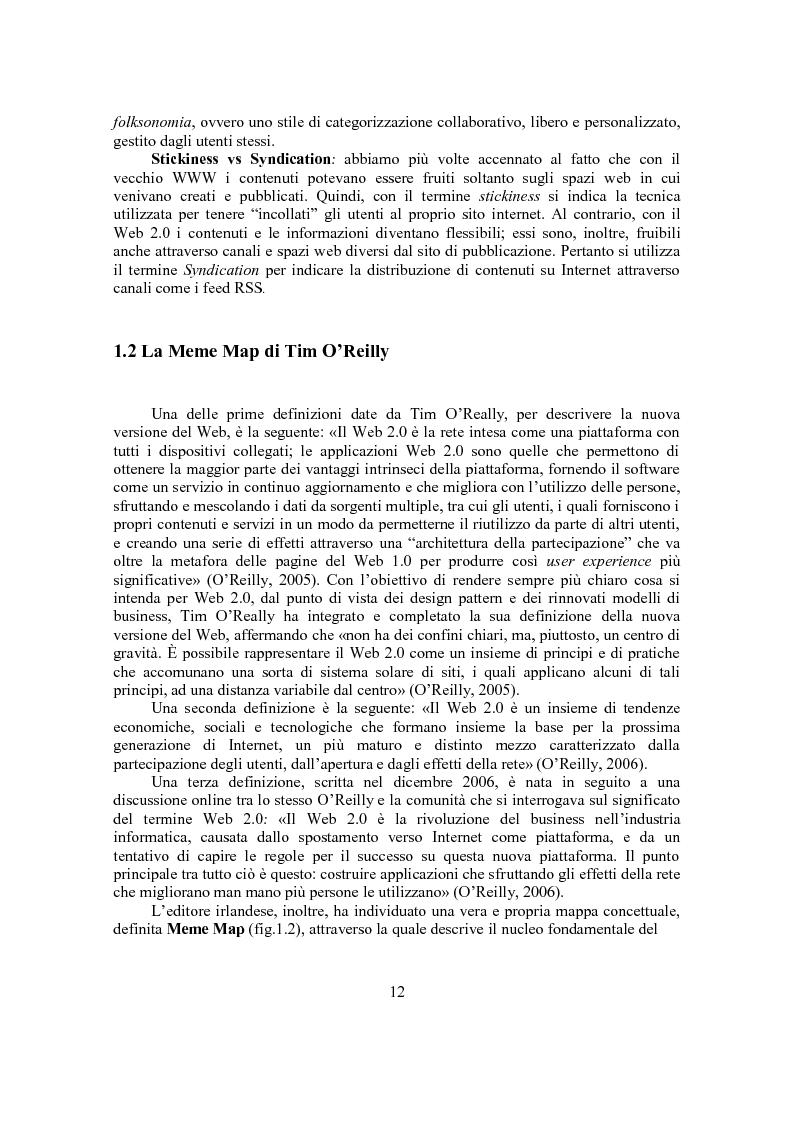 Anteprima della tesi: Marketing Conversazionale e Web 2.0: un dialogo tra l'azienda e il mercato, Pagina 9