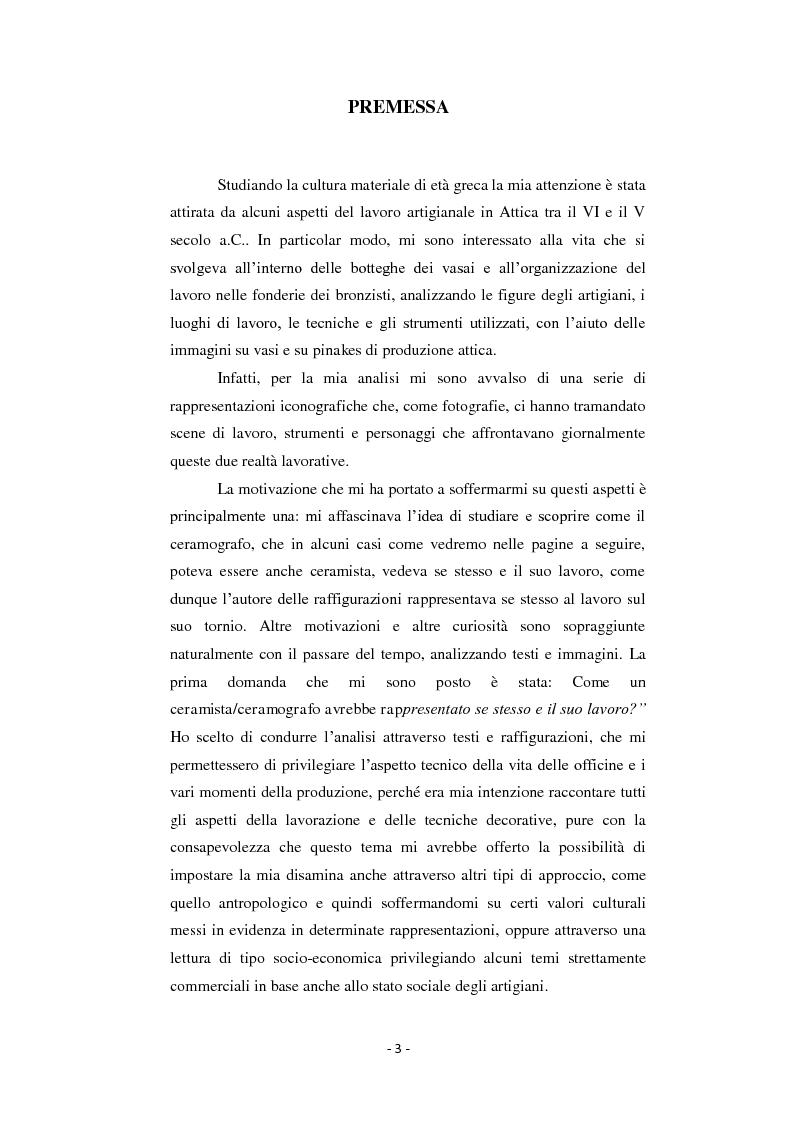 Anteprima della tesi: Bronzisti e vasai: scene di lavoro nella ceramografia attica (VI - V secolo a.C.), Pagina 2