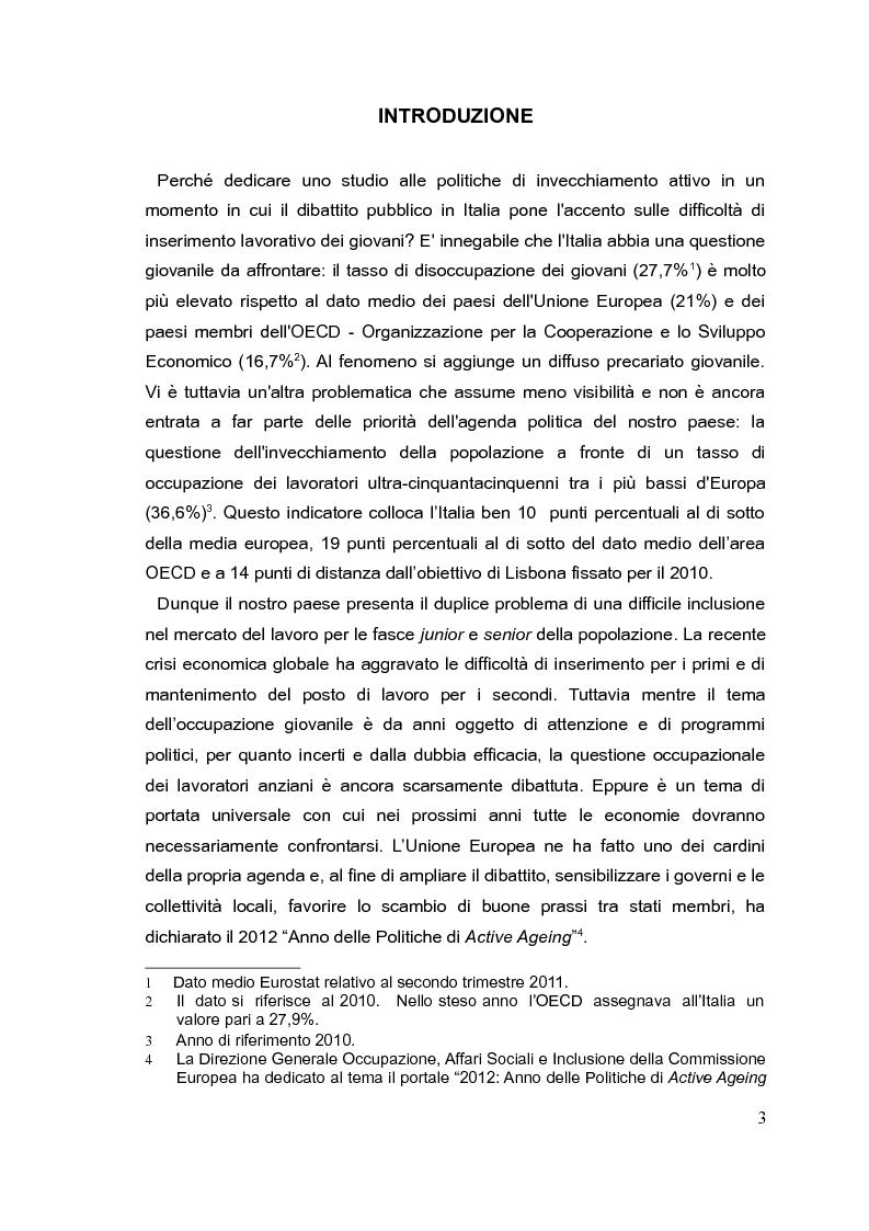 Anteprima della tesi: Il mercato del lavoro e le politiche di welfare di fronte all'invecchiamento della popolazione. Il caso italiano nel quadro europeo., Pagina 2