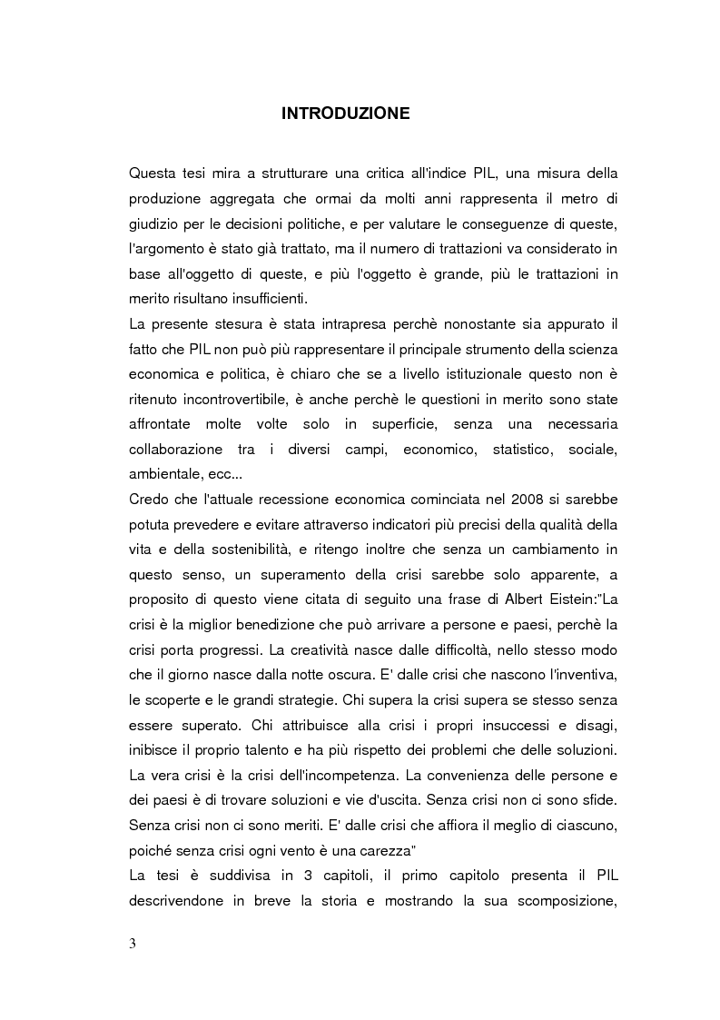 Anteprima della tesi: Limiti del PIL tra sostenibilità e benessere, Pagina 2